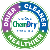 drier, cleaner, healthier chem-dry badge