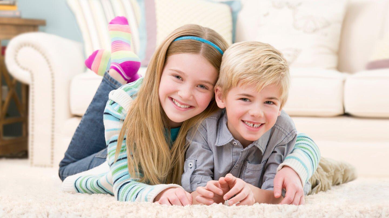 kids on carpet in pomona home