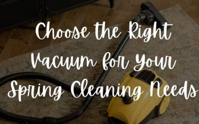 Choose the Right Vacuum for Your Spring Cleaning Needs