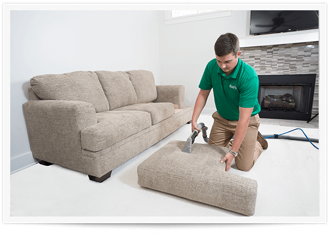 tech performing upholstery cleaning orange county ca