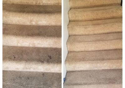 tan stairs before and after carpet cleaning in newport beach ca