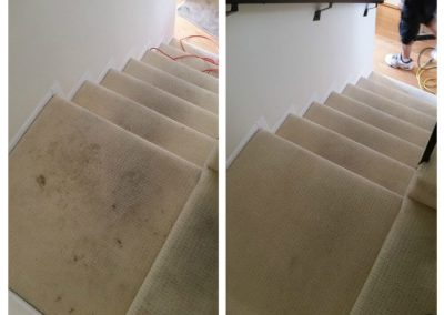 tan stairs before and after carpet cleaning in orange county ca