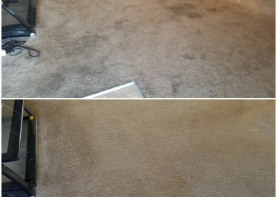 brown carpet before and after carpet cleaning in orange county ca