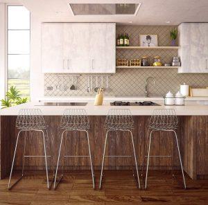 clean kitchen in orange county home