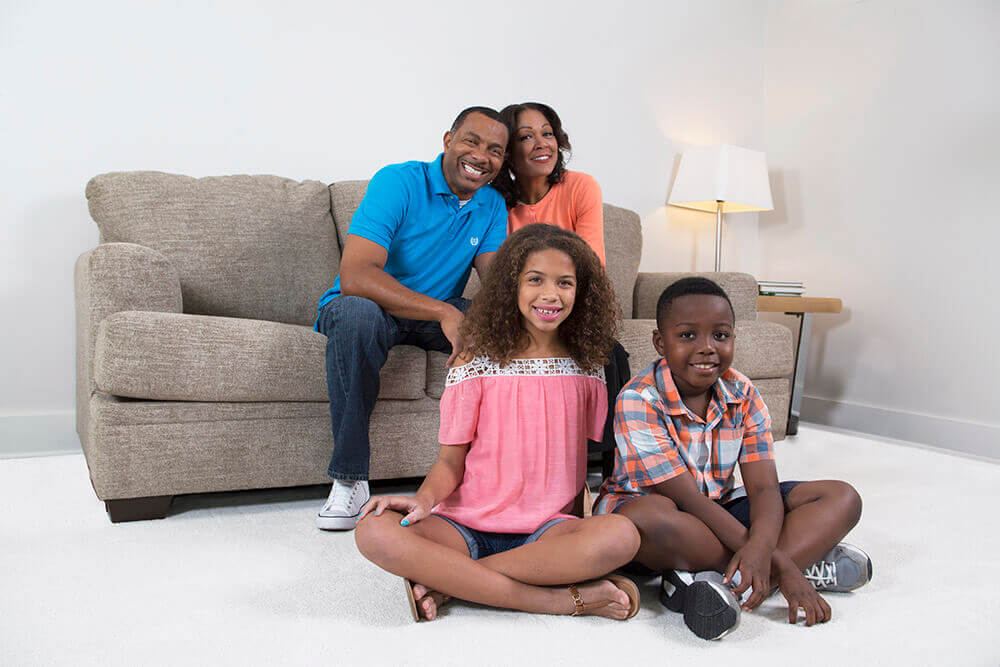 family after carpet cleaning seal beach ca