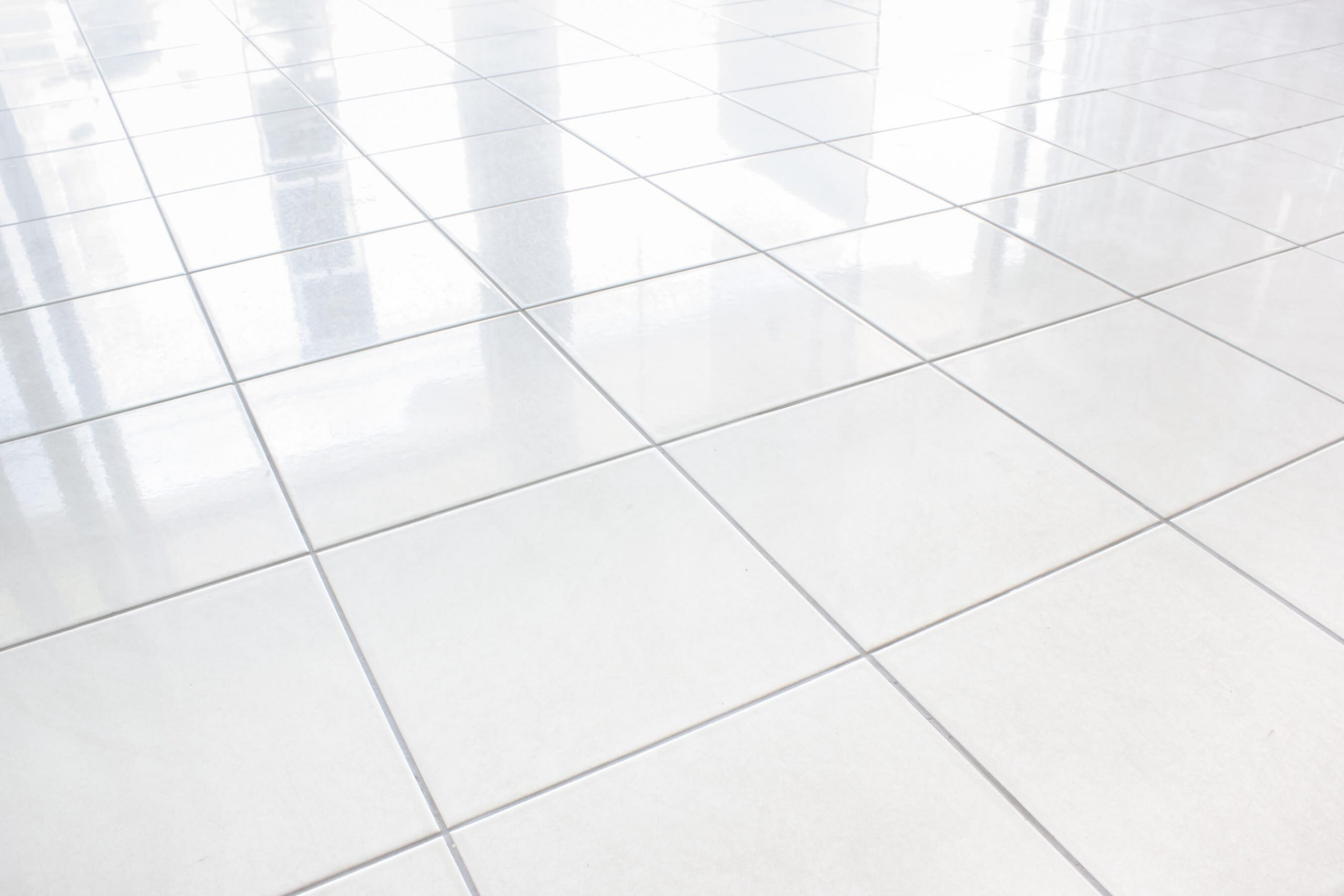 clean white tile in orange county home