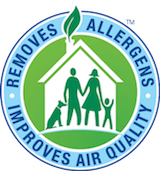 removes allergens improves air quality chem-dry badge