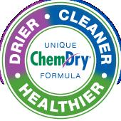 drier, cleaner, healthier chem-dry badge