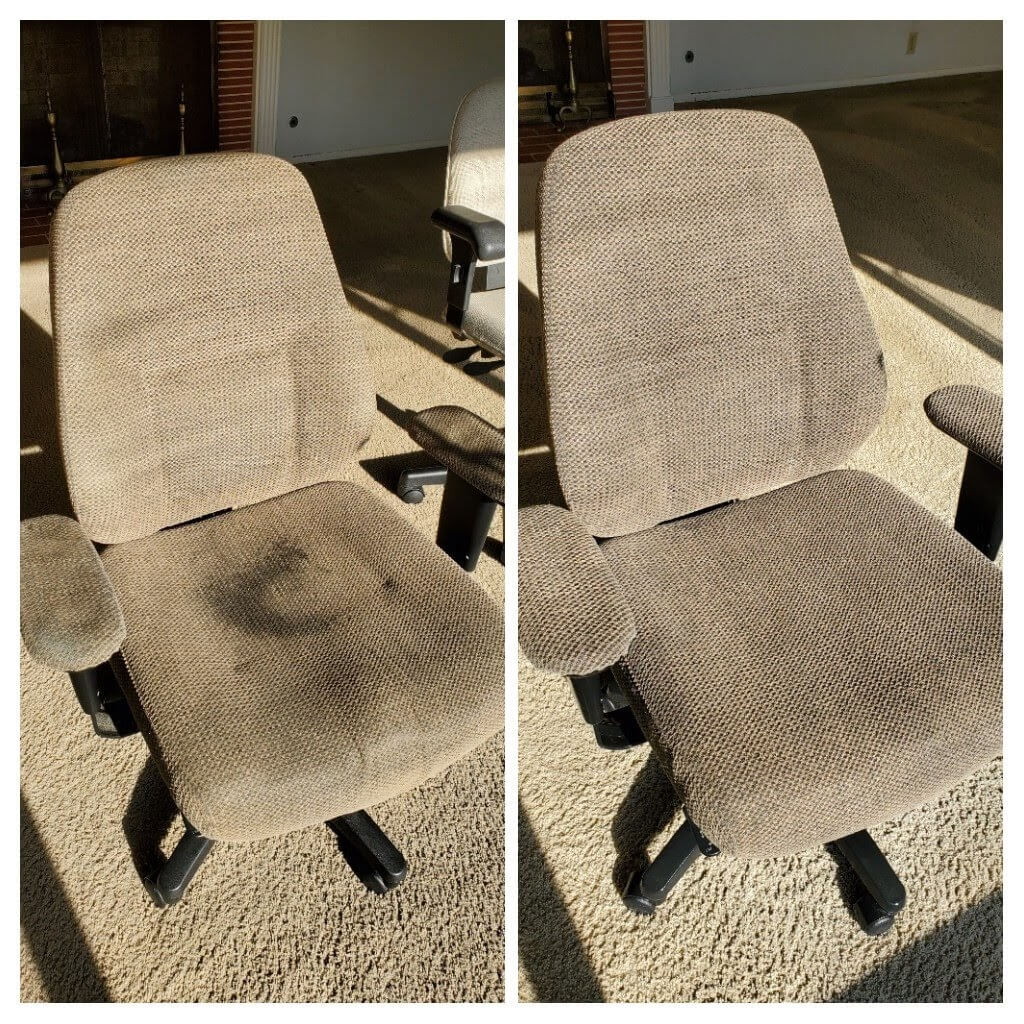 work chair before and after upholstery cleaning torrance ca