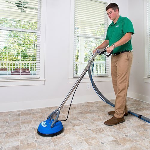 chem-dry tech performing tile cleaning in seal beach ca