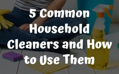 5 Common Household Cleaners and How to Use Them
