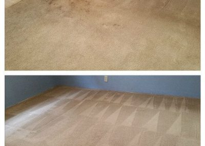 brown carpet before and carpet cleaning in garden grove ca