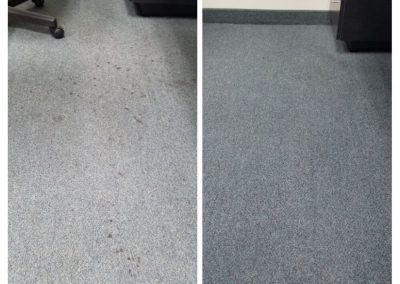 office carpet before and after commercial cleaning orange county