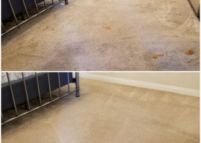 tan carpet before and after commercial cleaning orange county