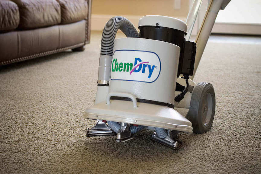 chem-dry cleaning equipment doing a carpet cleaning in orange county