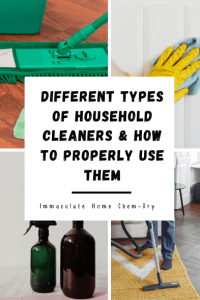 Different Types of Household Cleaners and How to Properly Use Them