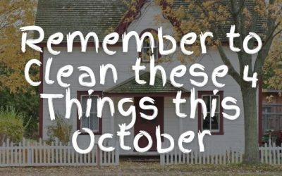 Remember to Clean these 4 Things this October